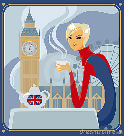 Five-o-clock tea in London