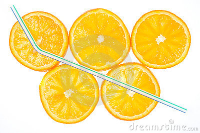 Five orange slices