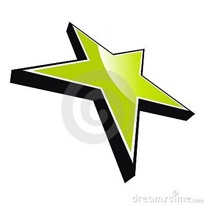 Five pointed green star