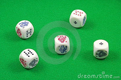Five poker dice