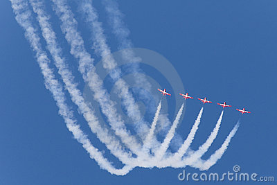Five Red Jets