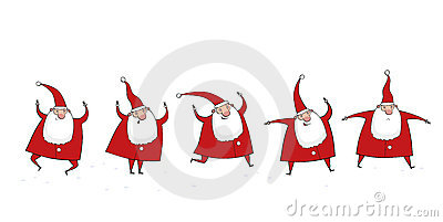 Five Santa Clauses