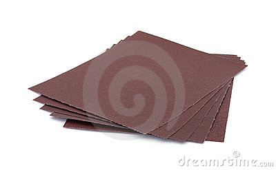 Five sheets sandpaper