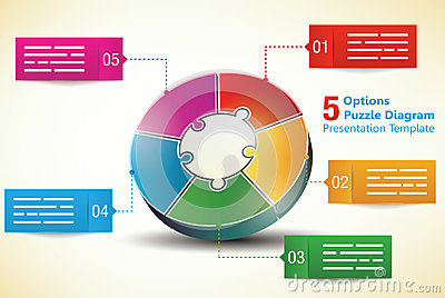 Five sided presentation template