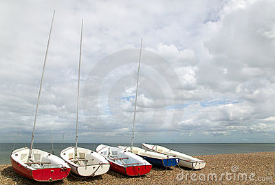 Five small yachts