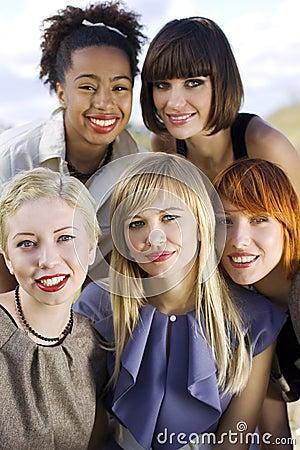 Free Five Smiling Women. Stock Image - 11177371