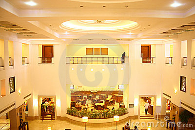 Five Star Hotel Lobby and Fine Dine Restaurant