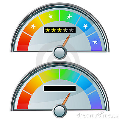 Five Star Rating Gauge