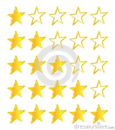Five Stars Golden Stars