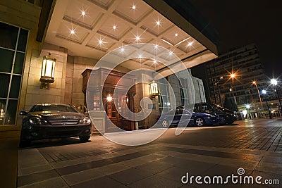Five stars hotel front door