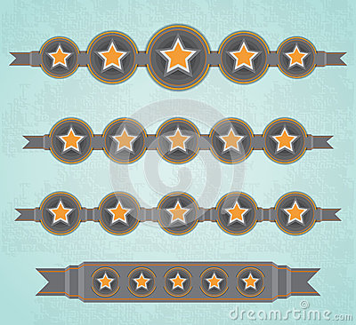 Five Stars ribbons