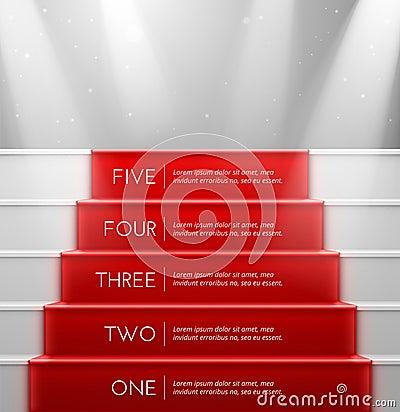 Free Five Steps Stock Photo - 39531560