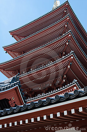 Five-Storied Pagoda from Low angle.