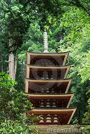 Five-storied Pagoda of Murouji Temple at Nara