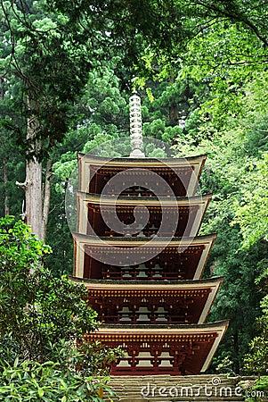 Five-storied Pagoda of Murouji Temple at Nara