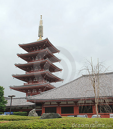 Five Storied Pagoda at Senso-Ji