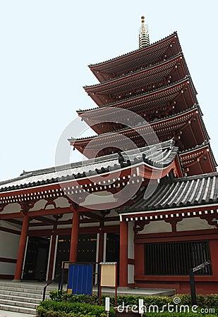 Five Storied Pagoda at Senso-Ji, Tokyo