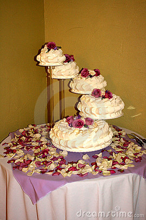 Five Tiered Wedding Cake
