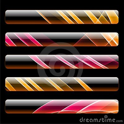 Five vivid web banners