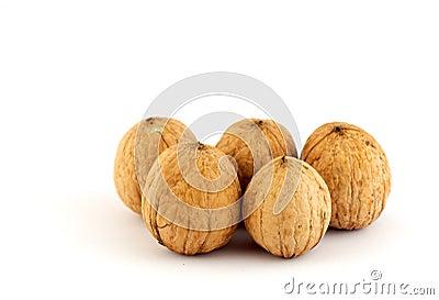 Five walnuts
