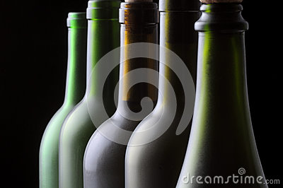Five Wine Bottles