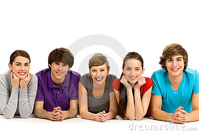 Five young people