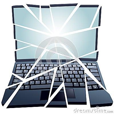 Fix Repair Broken Laptop Computer in pieces