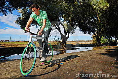 Fixed Gear Cyclist