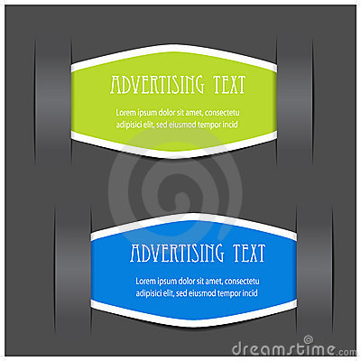 Fixed labels for advertising text