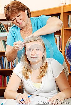 Fixing Daughter s Hair