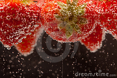 Fizzing Strawberries