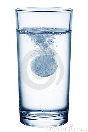 Free Fizzy Pill In The Glass Of Water. Royalty Free Stock Photography - 16444587