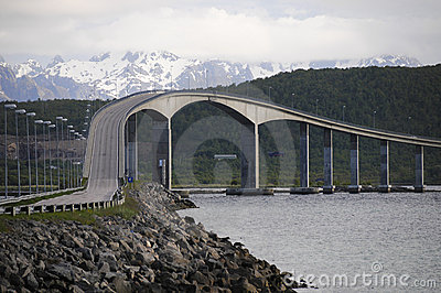 Fjord bridge norway