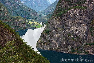Fjord in north europe