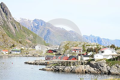 The fjord and the village of Reine in Lofoten