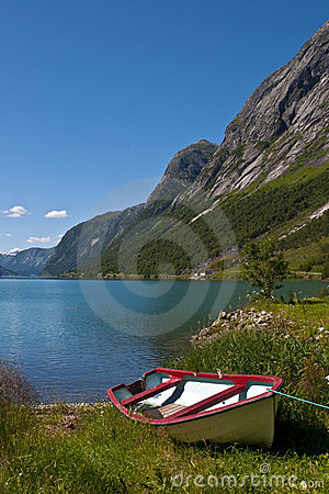 Fjords and boat