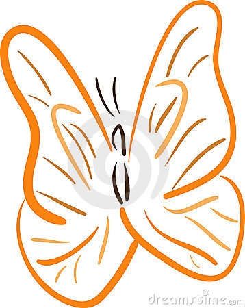 Fjärilslineartorange