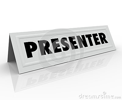 Fläck för presentatörName Tent Card gästtalare