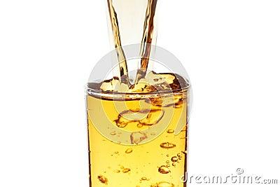Flödande dryck