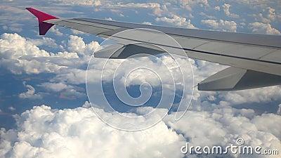 Flügel des Flugzeuges stock video