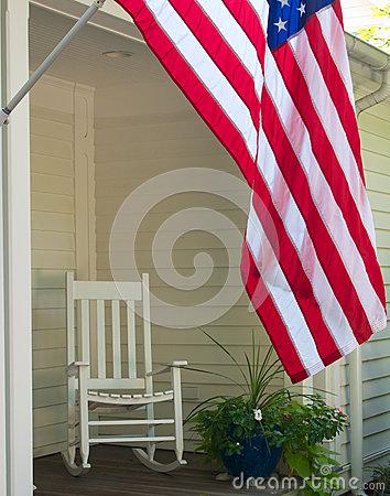 Free Flag And Rocking Chair Stock Photography - 26558622