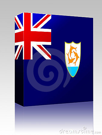 Flag of Anguilla box package