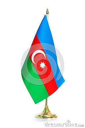 Flag of Azerbaijan isolated
