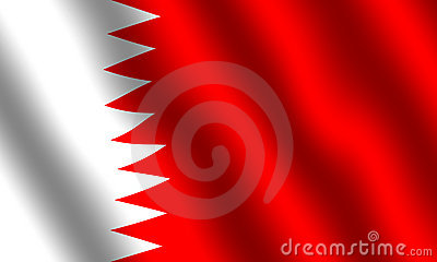 Flag of Bahrain Stock Photo