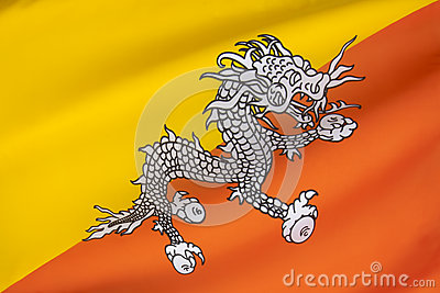 National Flag - Kingdom of Bhutan