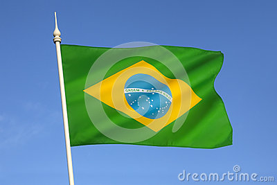 Flag of Brazil - South America