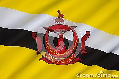 Flag of Brunei - Borneo
