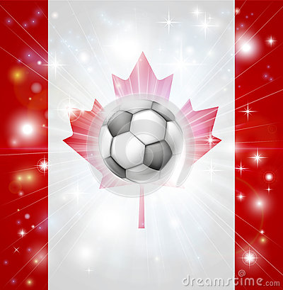 Canada soccer flag