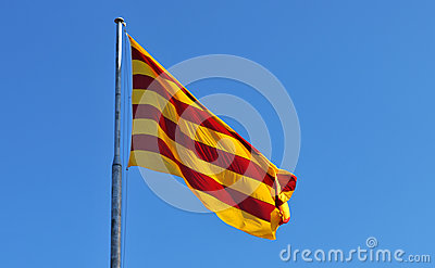 Flag of Catalonia Spain