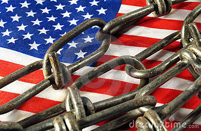 Flag in chains